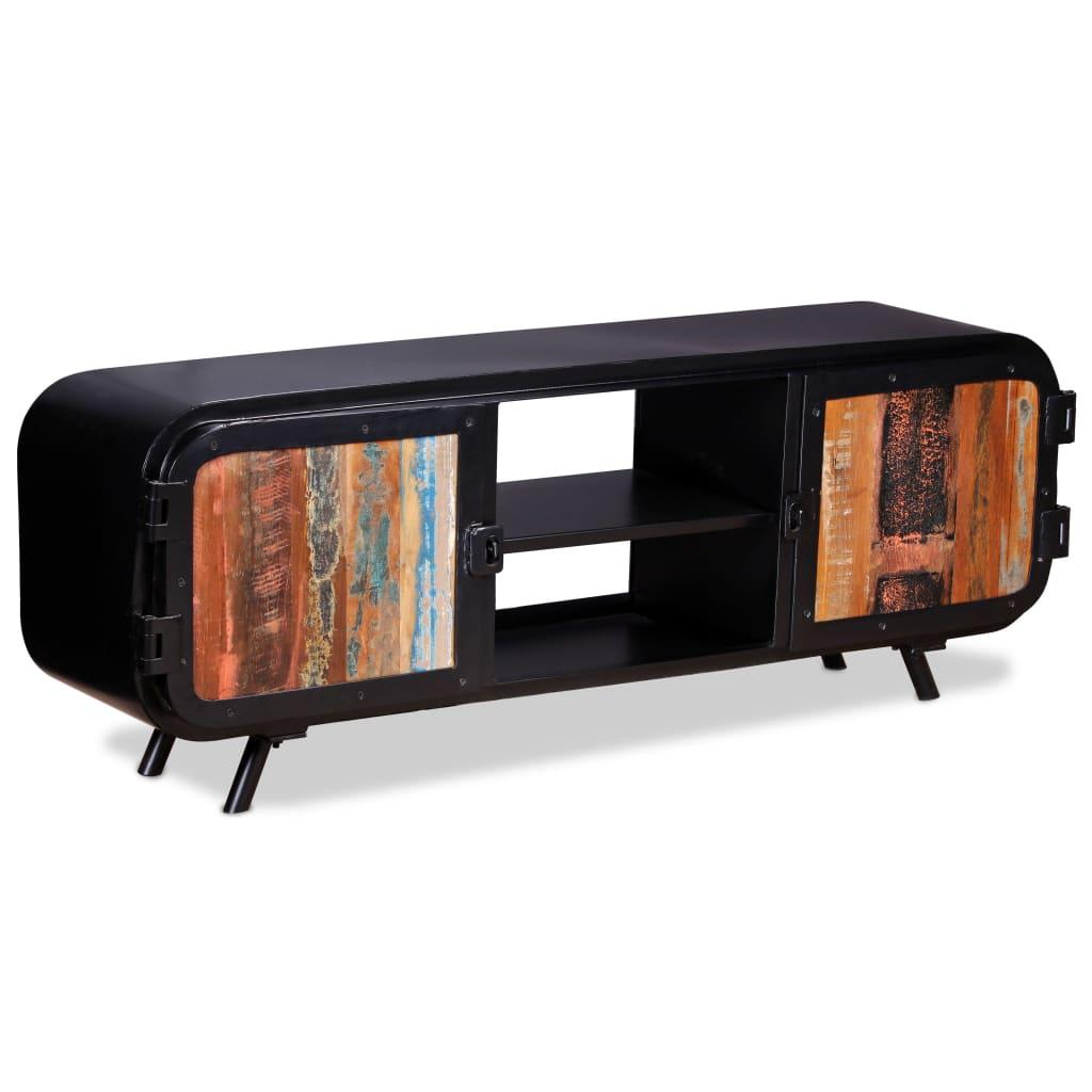 Taaskasutatud puidust telerikapp 120 x 30 x 45 cm