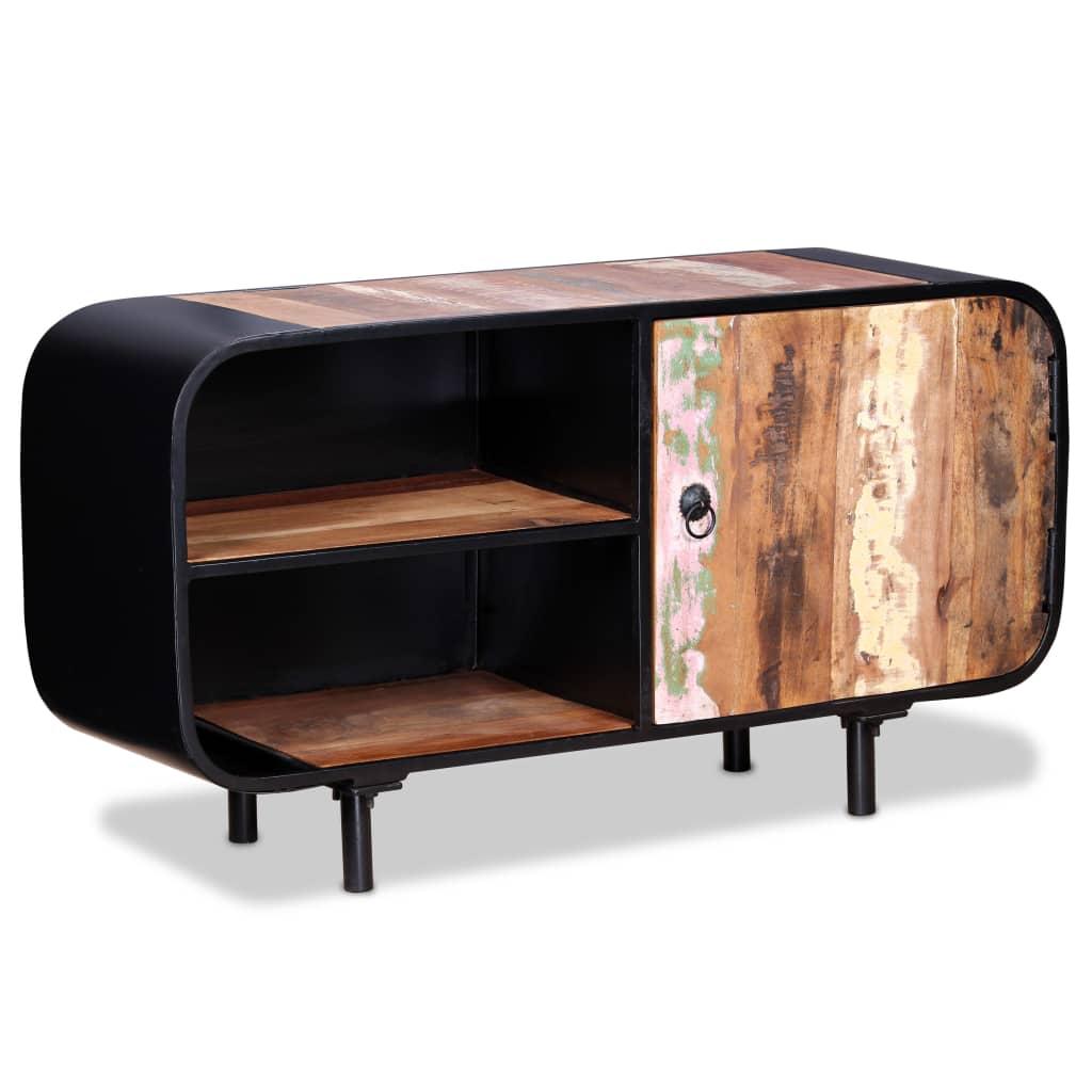 vidaXL Comodă TV din lemn masiv reciclat, 90 x 30 x 48 cm poza 2021 vidaXL