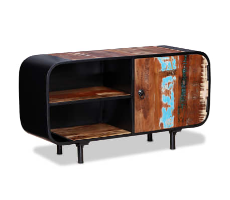 acheter vidaxl meuble tv bois de r cup ration 90 x 30 x 48 cm pas cher. Black Bedroom Furniture Sets. Home Design Ideas
