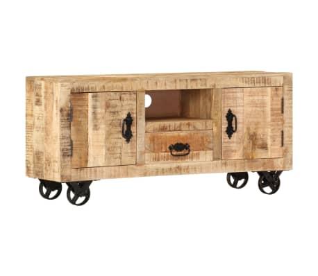acheter vidaxl meuble tv bois de manguier brut 120 x 30 x. Black Bedroom Furniture Sets. Home Design Ideas