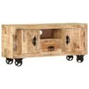 vidaXL TV staliukas, mango mediena, 120x30x50 cm