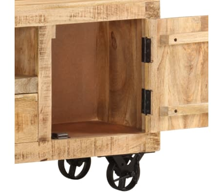 acheter vidaxl meuble tv bois de manguier brut 120 x 30 x 50 cm pas cher. Black Bedroom Furniture Sets. Home Design Ideas