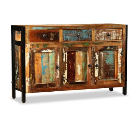 vidaXL Spintelė, masyvi perdirbta mediena, 120x35x76cm[2/12]