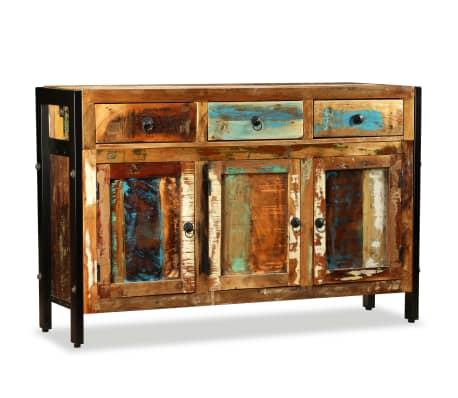 vidaXL Spintelė, masyvi perdirbta mediena, 120x35x76cm[3/12]