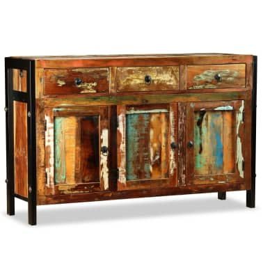 vidaXL Spintelė, masyvi perdirbta mediena, 120x35x76cm[4/12]
