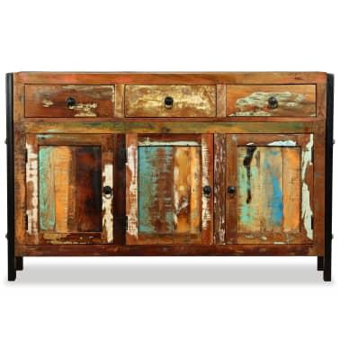 vidaxl sideboard recyceltes massivholz 120 x 35 x 76 cm g nstig kaufen. Black Bedroom Furniture Sets. Home Design Ideas