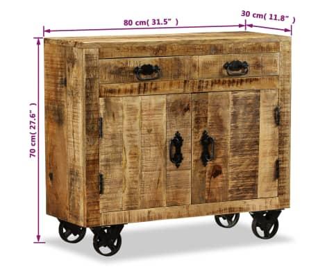 vidaXL Kommode mit 2 Schubladen und 1 Schrankfach Mangoholz