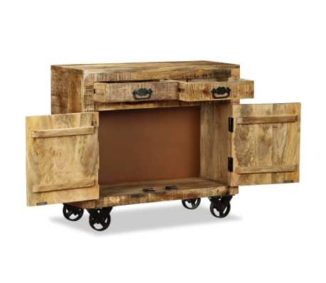 vidaXL Buffet avec 2 tiroirs et 1 armoire Bois de manguier brut[6/12]