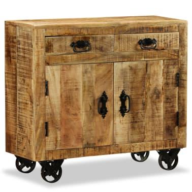 vidaXL Buffet avec 2 tiroirs et 1 armoire Bois de manguier brut[2/12]