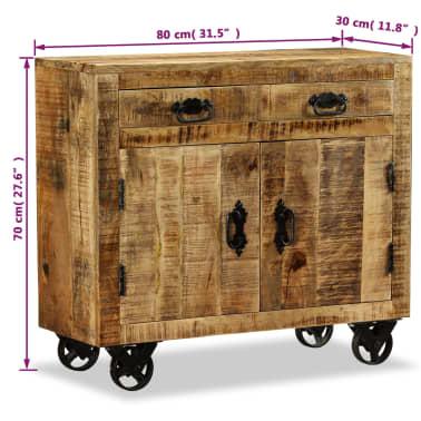 vidaXL Buffet avec 2 tiroirs et 1 armoire Bois de manguier brut[12/12]