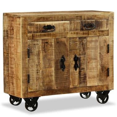vidaXL Buffet avec 2 tiroirs et 1 armoire Bois de manguier brut[5/12]