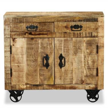 vidaXL Buffet avec 2 tiroirs et 1 armoire Bois de manguier brut[7/12]