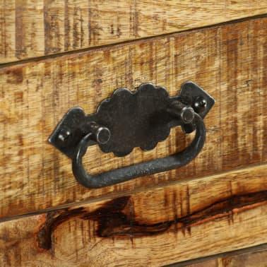 vidaxl buffet avec 2 tiroirs et 1 armoire bois de manguier brut. Black Bedroom Furniture Sets. Home Design Ideas