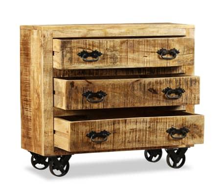 vidaXL Buffet avec 3 tiroirs Bois de manguier brut[6/12]