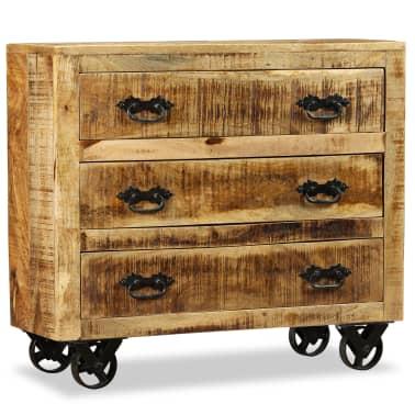 vidaXL Buffet avec 3 tiroirs Bois de manguier brut[3/12]