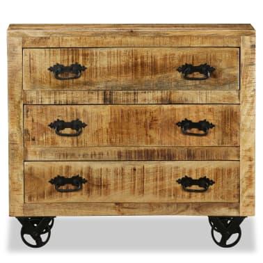 vidaXL Buffet avec 3 tiroirs Bois de manguier brut[7/12]