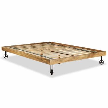 vidaXL Rám postele, tvrdé mangovníkové dřevo, 140x200 cm[2/15]