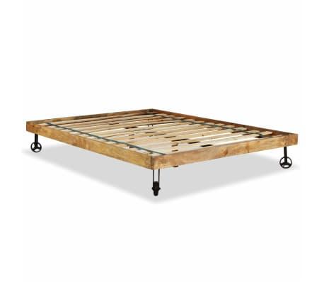 vidaXL Rám postele, tvrdé mangovníkové dřevo, 140x200 cm[6/15]