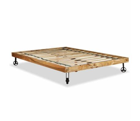 vidaXL Rám postele, tvrdé mangovníkové dřevo, 140x200 cm[7/15]