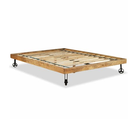 vidaXL Rám postele, tvrdé mangovníkové dřevo, 140x200 cm[8/15]