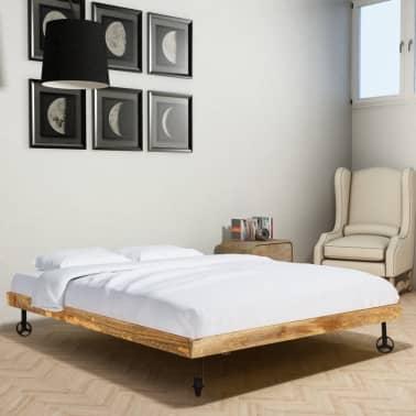 vidaXL Rám postele, tvrdé mangovníkové dřevo, 140x200 cm[3/15]