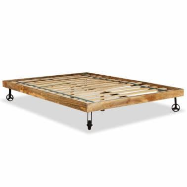 vidaXL Rám postele, tvrdé mangovníkové dřevo, 140x200 cm[5/15]