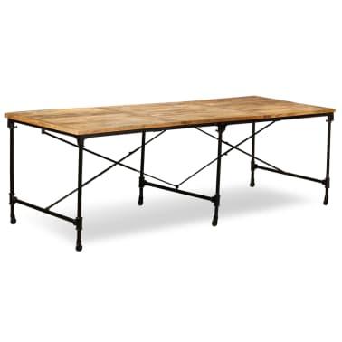 VidaXL Table De Salle à Manger Bois De Manguier Massif 240 Cm[1/13
