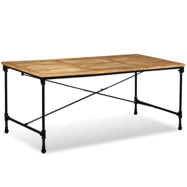 """vidaXL Dining Table Solid Mango Wood 70.9""""[1/13]"""