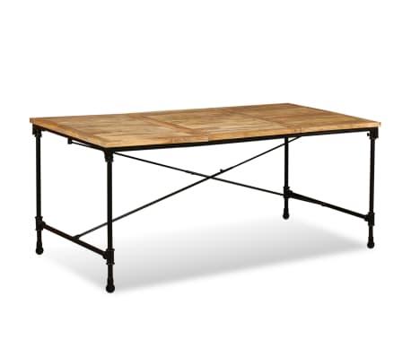 """vidaXL Dining Table Solid Mango Wood 70.9""""[3/13]"""