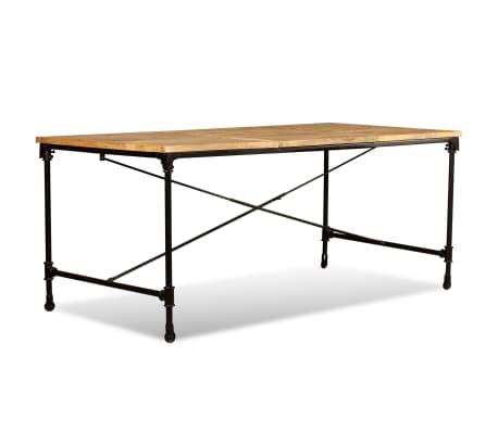 """vidaXL Dining Table Solid Mango Wood 70.9""""[6/13]"""