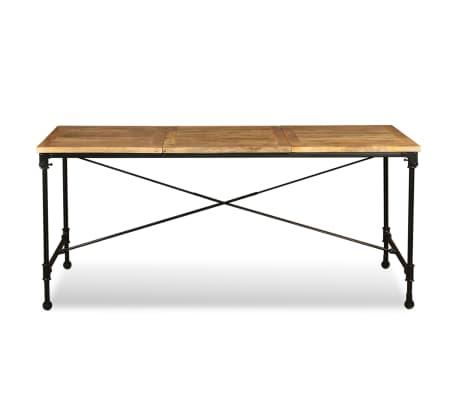 """vidaXL Dining Table Solid Mango Wood 70.9""""[7/13]"""