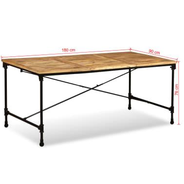 """vidaXL Dining Table Solid Mango Wood 70.9""""[13/13]"""