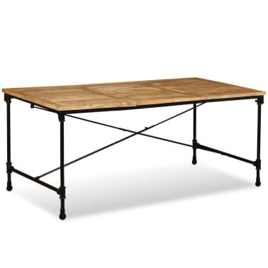 """vidaXL Dining Table Solid Mango Wood 70.9""""[4/13]"""
