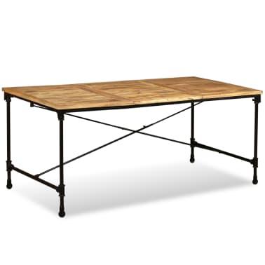 """vidaXL Dining Table Solid Mango Wood 70.9""""[5/13]"""