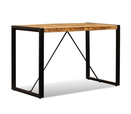 "vidaXL Dining Table Solid Rough Mango Wood 47.2""[3/12]"