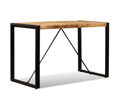 "vidaXL Dining Table Solid Rough Mango Wood 47.2""[4/12]"