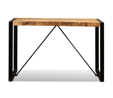 "vidaXL Dining Table Solid Rough Mango Wood 47.2""[8/12]"