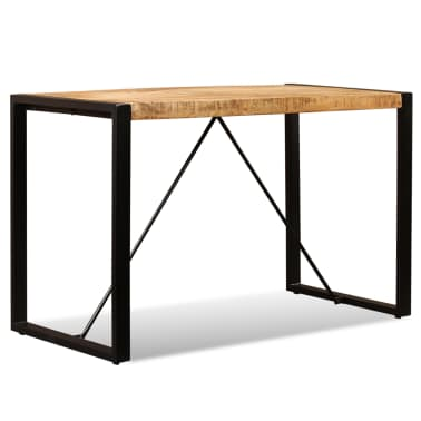 "vidaXL Dining Table Solid Rough Mango Wood 47.2""[2/12]"
