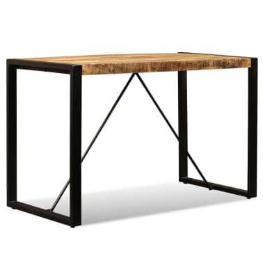 "vidaXL Dining Table Solid Rough Mango Wood 47.2""[5/12]"
