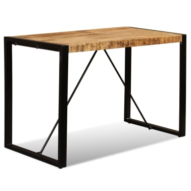 "vidaXL Dining Table Solid Rough Mango Wood 47.2""[7/12]"