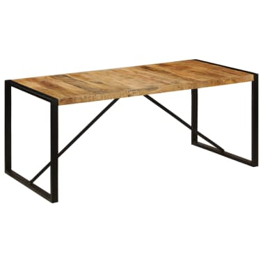 "vidaXL Dining Table Solid Rough Mango Wood 70.9""[1/12]"