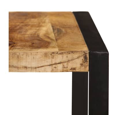 acheter vidaxl table de salle manger bois de manguier brut 180 cm pas cher. Black Bedroom Furniture Sets. Home Design Ideas