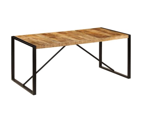 "vidaXL Dining Table Solid Rough Mango Wood 70.9""[8/12]"