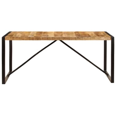 "vidaXL Dining Table Solid Rough Mango Wood 70.9""[2/12]"
