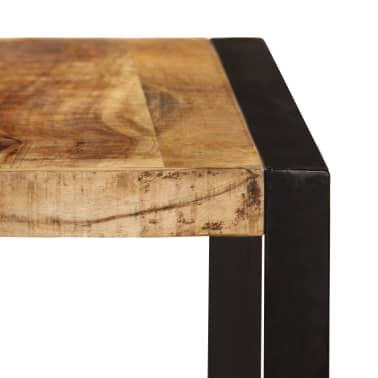 "vidaXL Dining Table Solid Rough Mango Wood 70.9""[3/12]"