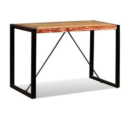 vidaXL Valgomojo stalas, masyvi perdirbta mediena, 120cm[3/12]