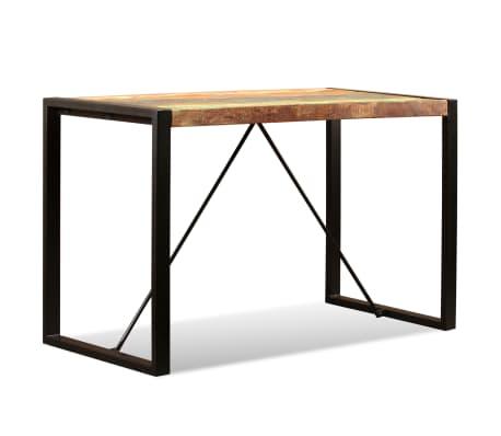 vidaXL Valgomojo stalas, masyvi perdirbta mediena, 120cm[6/12]