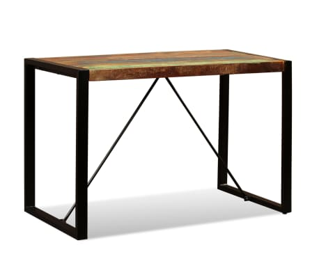 "vidaXL Dining Table Solid Reclaimed Wood 47.2""[7/12]"