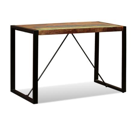 vidaXL Valgomojo stalas, masyvi perdirbta mediena, 120cm[7/12]
