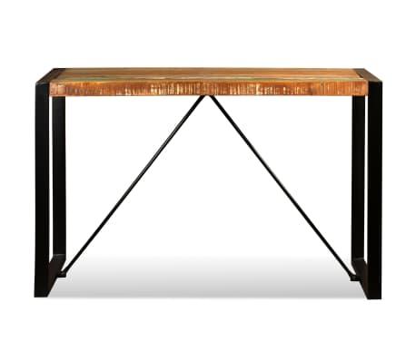 vidaXL Valgomojo stalas, masyvi perdirbta mediena, 120cm[8/12]